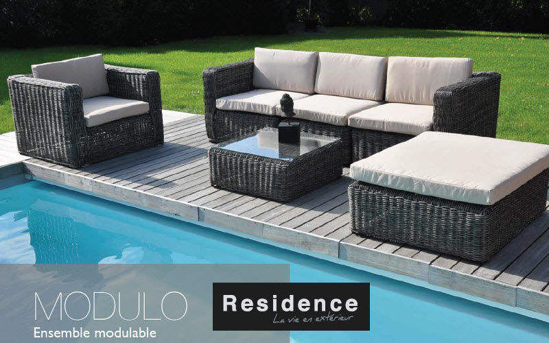 RESIDENCE Salon de jardin Salons complets Jardin Mobilier Jardin-Piscine | Charme