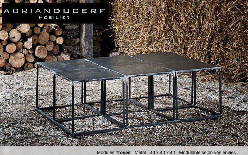ADRIAN DUCERF Table basse carrée Tables basses Tables & divers Salon-Bar | Design Contemporain