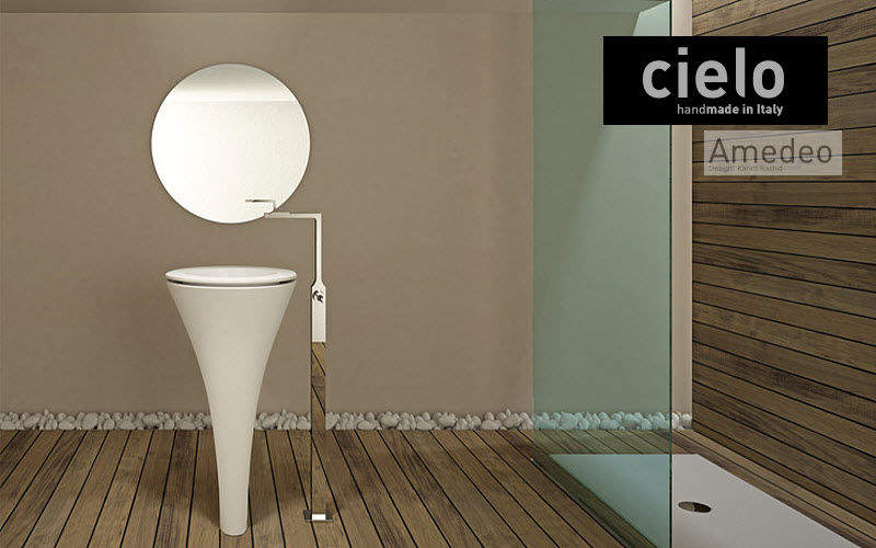 CIELO Lavabo sur piétement Vasques et lavabos Bain Sanitaires Salle de bains |