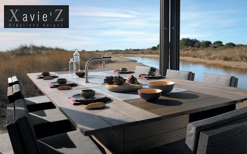 Xavie'z Salle à manger de jardin Tables de jardin Jardin Mobilier Terrasse | Design Contemporain