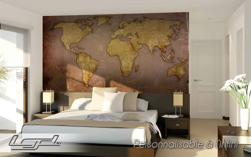 LGD01 ® Papier peint panoramique Papiers peints Murs & Plafonds Chambre   Design Contemporain