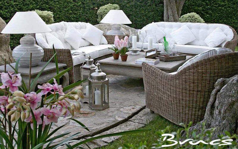 BRUCS Salon de jardin Salons complets Jardin Mobilier Terrasse | Charme