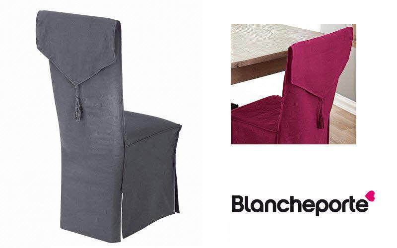 Blanche Porte Housse de chaise Housses Linge de Maison  |