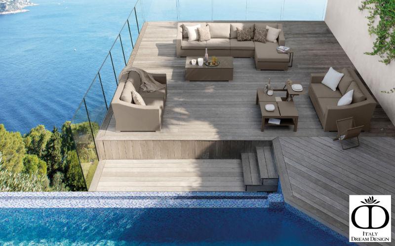 ITALY DREAM DESIGN Table basse de jardin Tables de jardin Jardin Mobilier Terrasse | Bord de mer