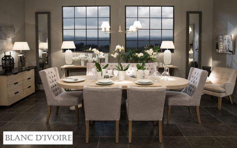 BLANC D'IVOIRE Table de repas ovale Tables de repas Tables & divers Salle à manger | Contemporain