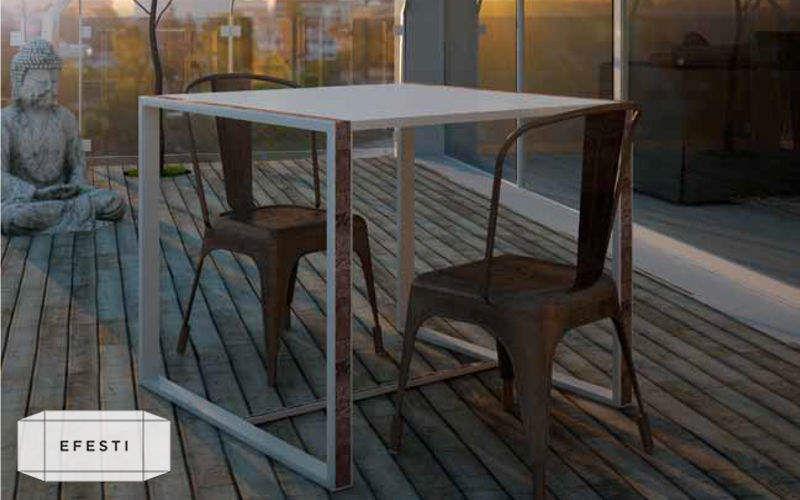 EFESTI HANDMADE IN ITALY Table de repas carrée Tables de repas Tables & divers  |