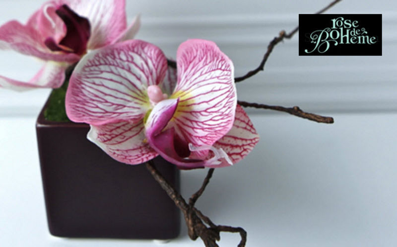 ROSE DE BOHEME Fleur artificielle Fleurs et compositions Fleurs et Senteurs  |