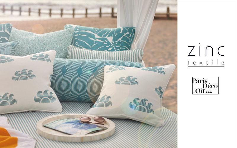 Zinc textile Coussin carré Coussins Oreillers Linge de Maison  |