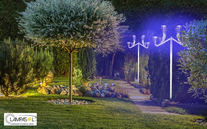 LAMPASOL Lampadaire de jardin Réverbères lampadaires Luminaires Extérieur  |