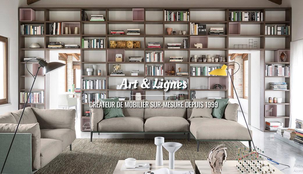 ART  & LIGNES Bibliothèque ouverte Bibliothèques Rangements  |