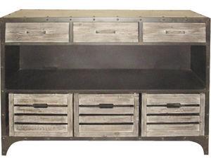 Aubry-Gaspard - console tiroir en métal manufacture - Console