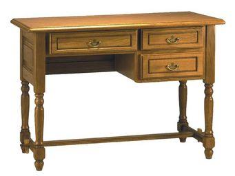 WHITE LABEL - bureau 3 tiroirs - leandre - l 110 x l 55 x h 80 - - Bureau