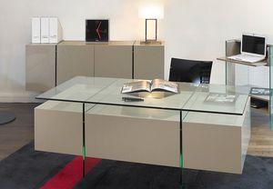 Marais International - laqué & verre - Bureau