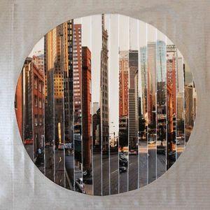 JOHANNA L COLLAGES - windy city : murs de briques - Tableau Contemporain