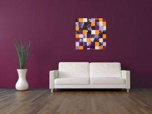 JOHANNA L COLLAGES - paris purple sunset - Tableau Décoratif