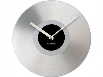 Karlsson Clocks - karlsson - horloge record platinium - karlsson - n - Horloge Murale
