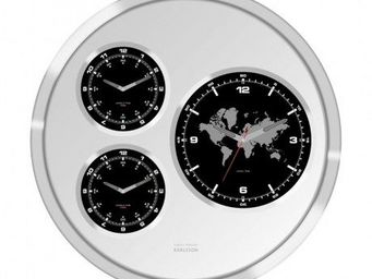 Karlsson Clocks - karlsson - horloge big tic world time ø? 60cm - ka - Horloge Murale