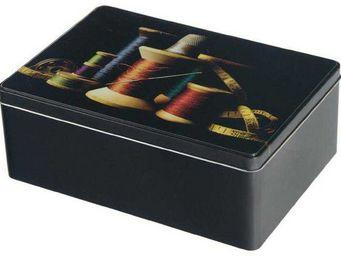 Balvi - boîte à couture bobines et fils en etain 26x18x9cm - Boite À Couture