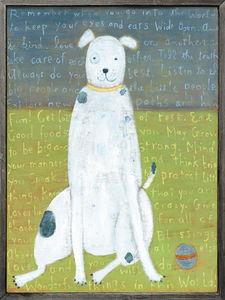 Sugarboo Designs - art print - large white boy dog - Tableau Décoratif