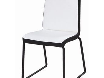 CLEAR SEAT - chaises blanches et noires simili cuir husky lot d - Chaise
