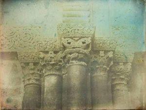 LINEATURE - porte eglise du saint sépulcre, jérusalem - 1844 - Photographie