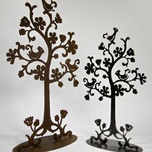 YAN HUBLOT - arbre à bijoux en métal noir persane - Porte Bijoux