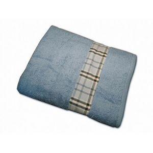 CLARA LINGE - serviette éponge bleue claraberry 520 gr - Serviette De Toilette