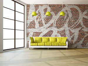 IN CREATION - briques rouges - Papier Peint Panoramique