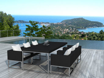 Delorm design - salon de jardin design 1 table + 6 fauteuils - Table De Jardin