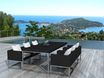 Delorm design - salon de jardin design 1 table + 6 fauteuils - Table De Jardin