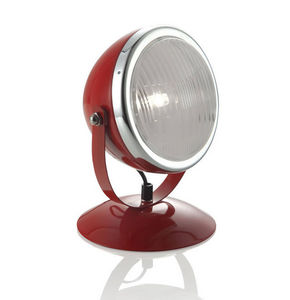 Brandani - lampe de table sensitive en métal rouge et verre 1 - Lampe À Poser