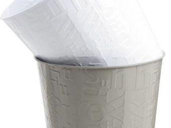 BARCLER - cache-pot alphabet en métal blanc 18,5x16,5cm - Cache Pot