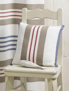 HOMEMAISON.COM - coussin tiss� teint rayures horizontales - Coussin Carr�