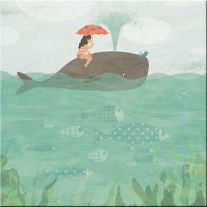 DECOHO - balade en baleine - Tableau Décoratif Enfant