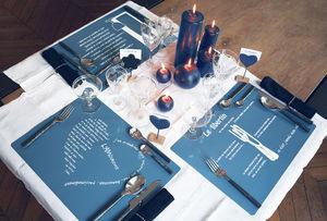 EDITION DANS TÊTE - set de table gris orage - Set De Table