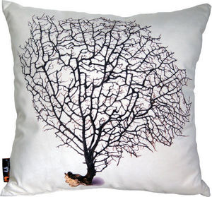 MEROWINGS - merowings black coral on cream - Coussin Carré