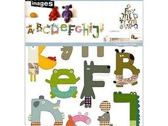 Nouvelles Images - stickers adh�sif alphabet animaux nouvelles images - Sticker