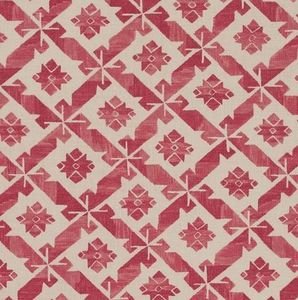 Vaughan - samos red printed - Tissu D'ameublement