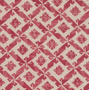 Vaughan - samos red printed - Tissu D'ameublement