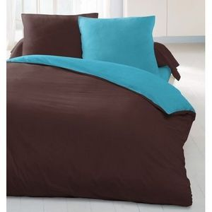 FASHION HOME - chocolat/turquoise - Parure De Lit