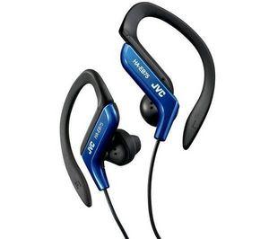JVC - ecouteurs clip oreille sport ha-eb75-a - bleu - Casque Audio