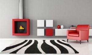 NAZAR - tapis chillout 120x170 black-silver - Tapis Contemporain
