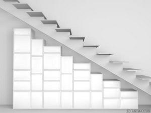 CUBIT® - regal unter treppen und dachschrägen - Meuble Escalier