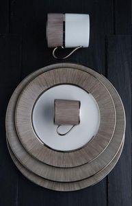 Legle - carbone - Assiette Plate