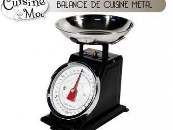 Fomax - balance de cuisine en métal - couleur - noir - Balance De Cuisine Électronique