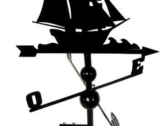 BARCLER - girouette bateau en fer forgé 97x47x47cm - Girouette