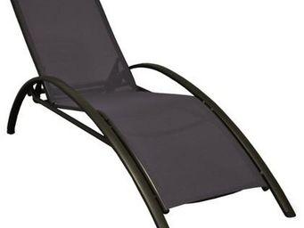 PROLOISIRS - lit de jardin sartene en aluminium et textilène - Chaise Longue De Jardin