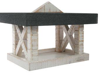 ZOLUX - mangeoire en bois blanc boréal 34,5x26x19cm - Mangeoire À Oiseaux
