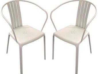 PROLOISIRS - fauteuil empilable azuro en aluminium light grey ( - Chaise De Jardin