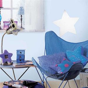 RoomMates - sticker miroir etoile repositionnable 28x28cm - Sticker Décor Adhésif Phosphorescent Enfant